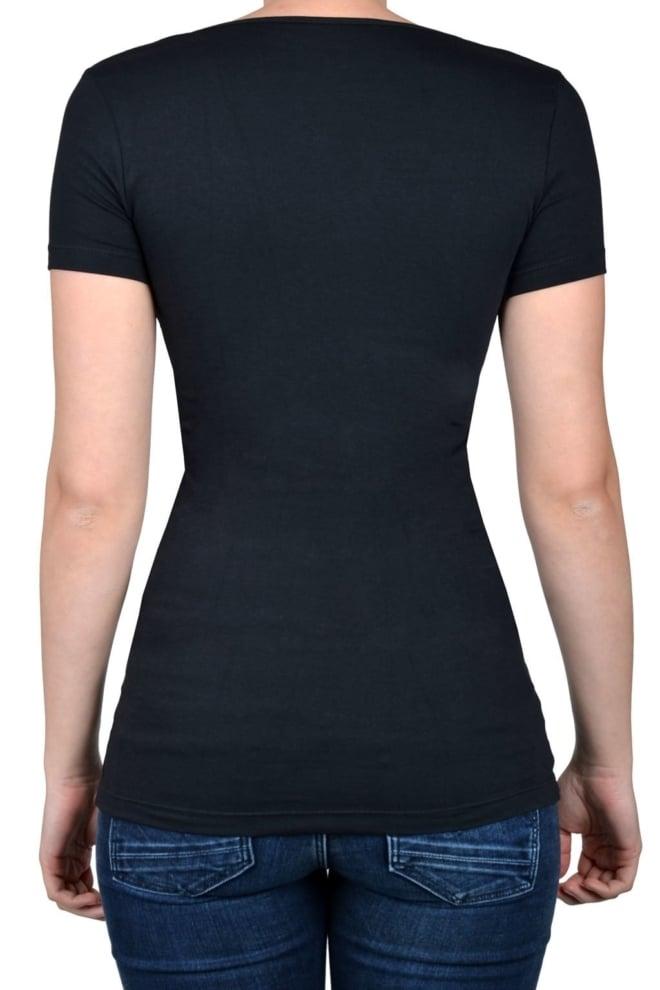 Black t-shirt women short sleeve - Fashionating People