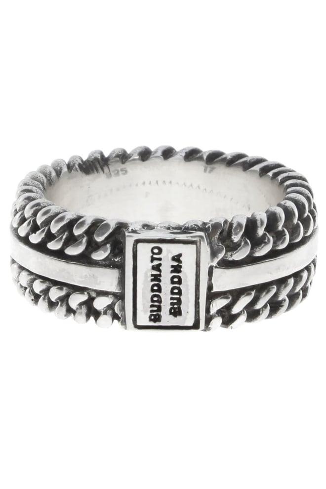 788 chain texture ring silver 09 - Buddha To Buddha