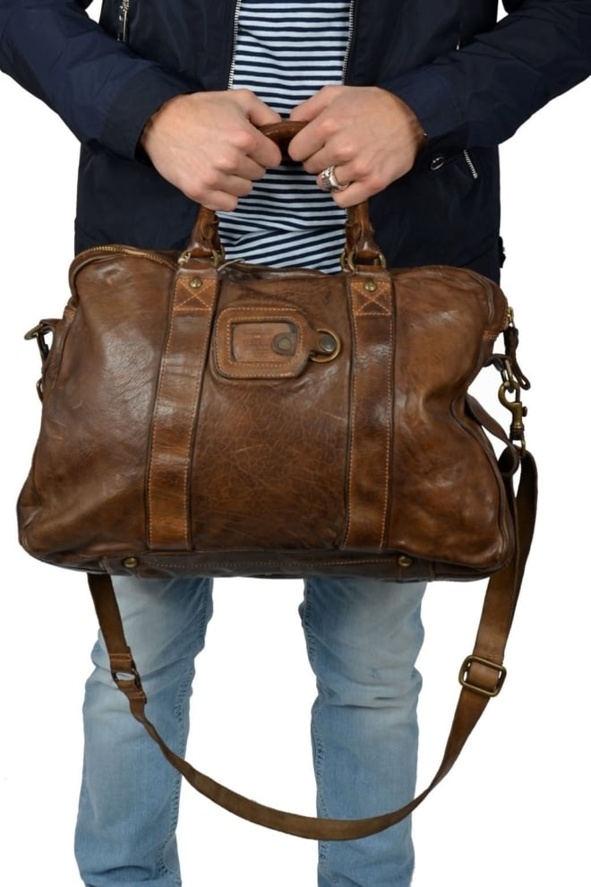 Campomaggi bag cowhide leather military green