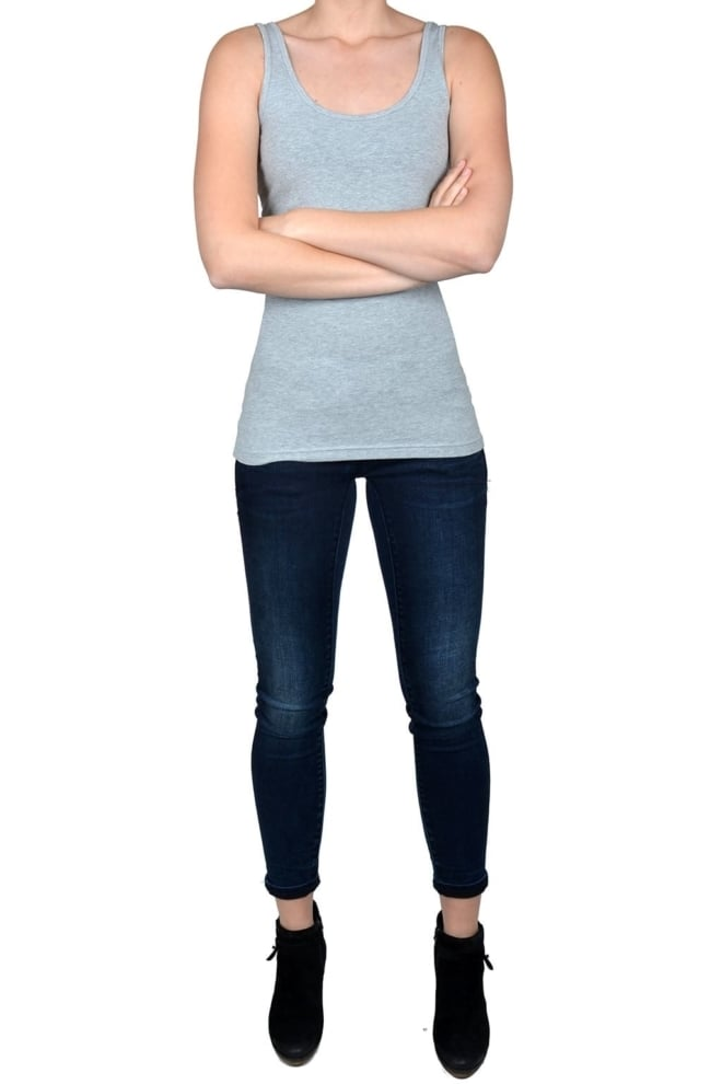 Tanktop women light grey - Fashionating People
