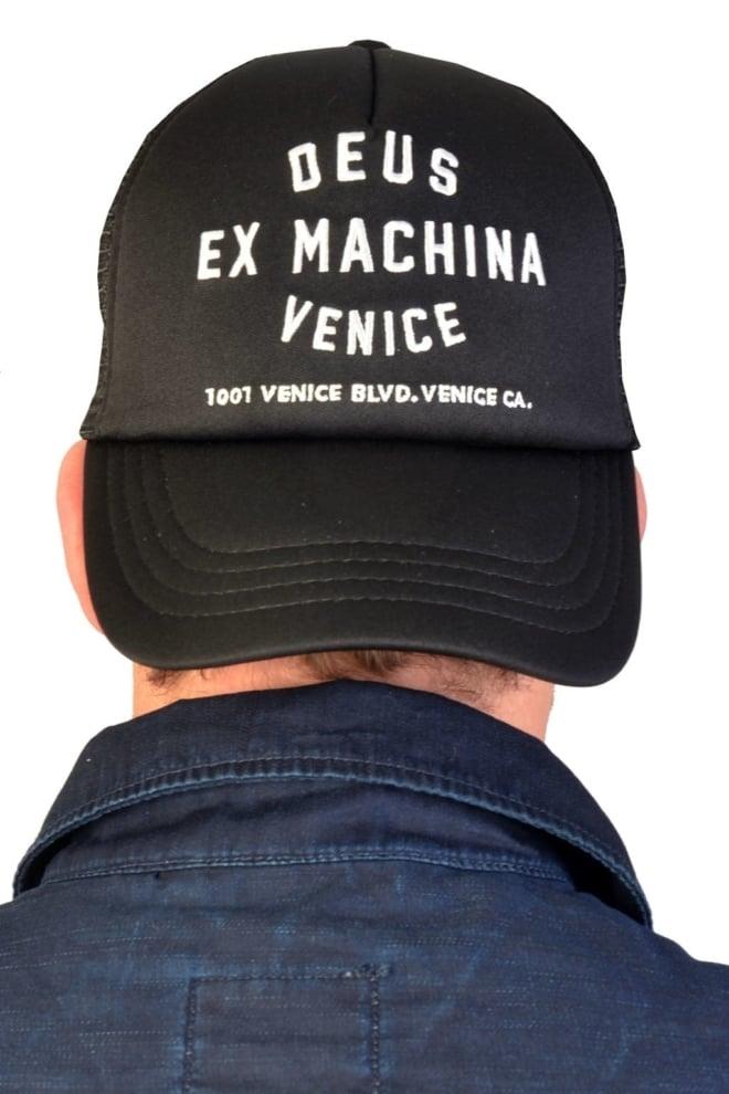 Deus venice trucker cap black - Deus