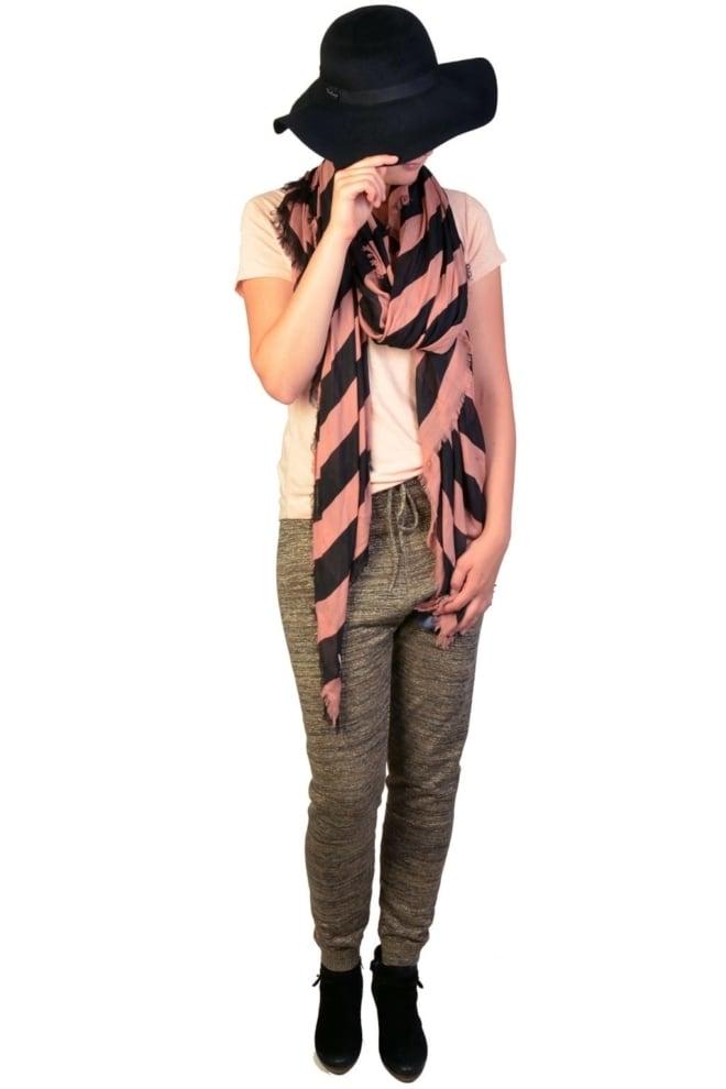 Supersoft lightweight scarf b/black 012 - Maison Scotch