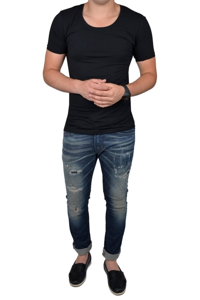 Black t-shirt men o-neck - Fashionating People