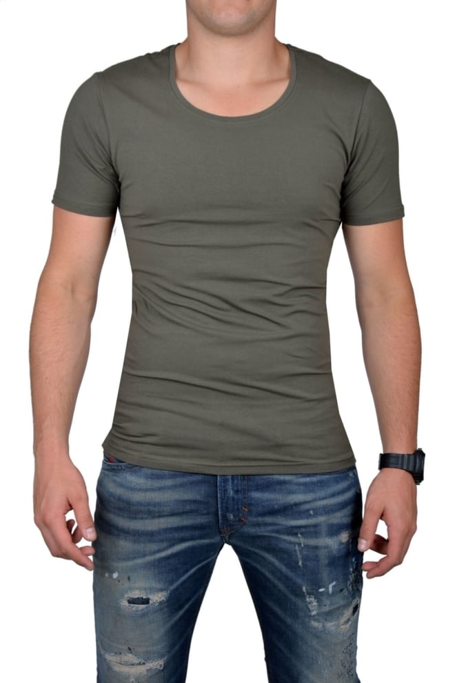 Groen t-shirt heren ronde hals - Fashionating People