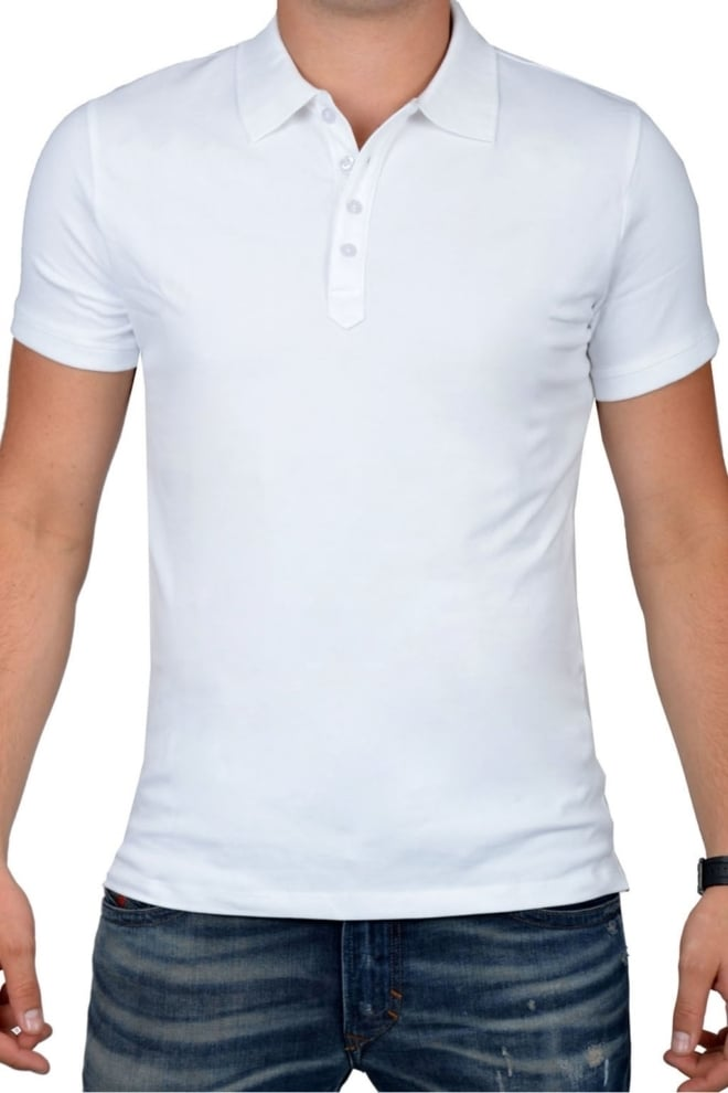 Polo men white - Fashionating People