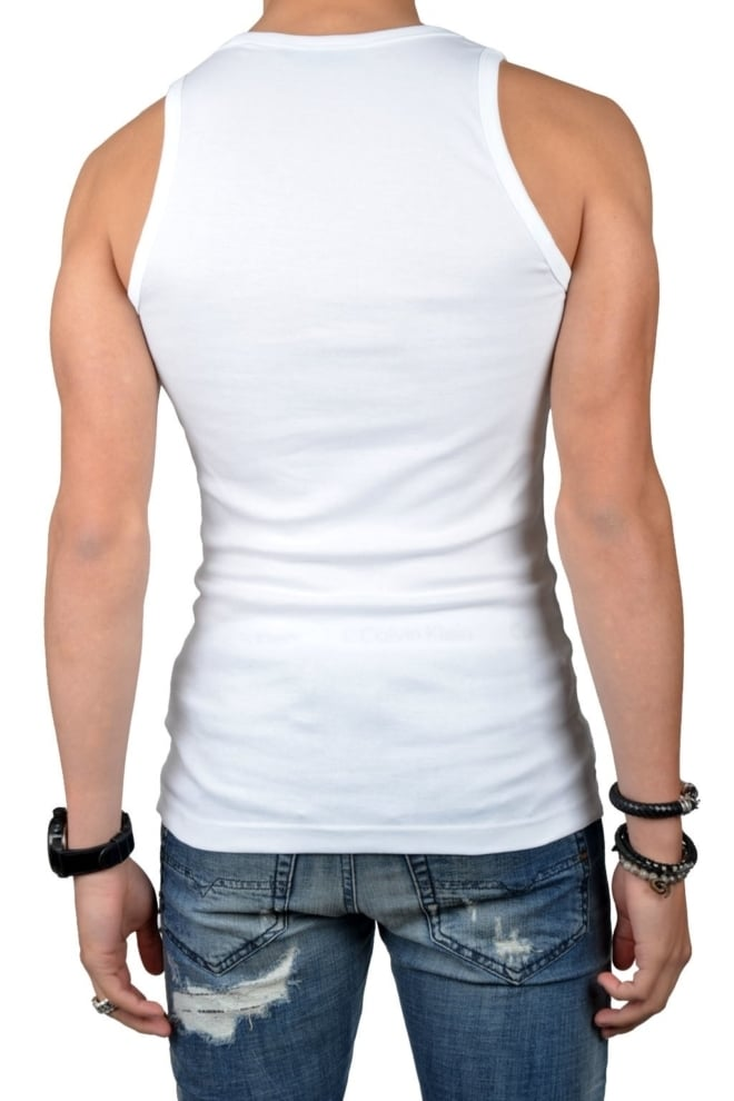 Tanktop men white, 2-pack - Fashionating People