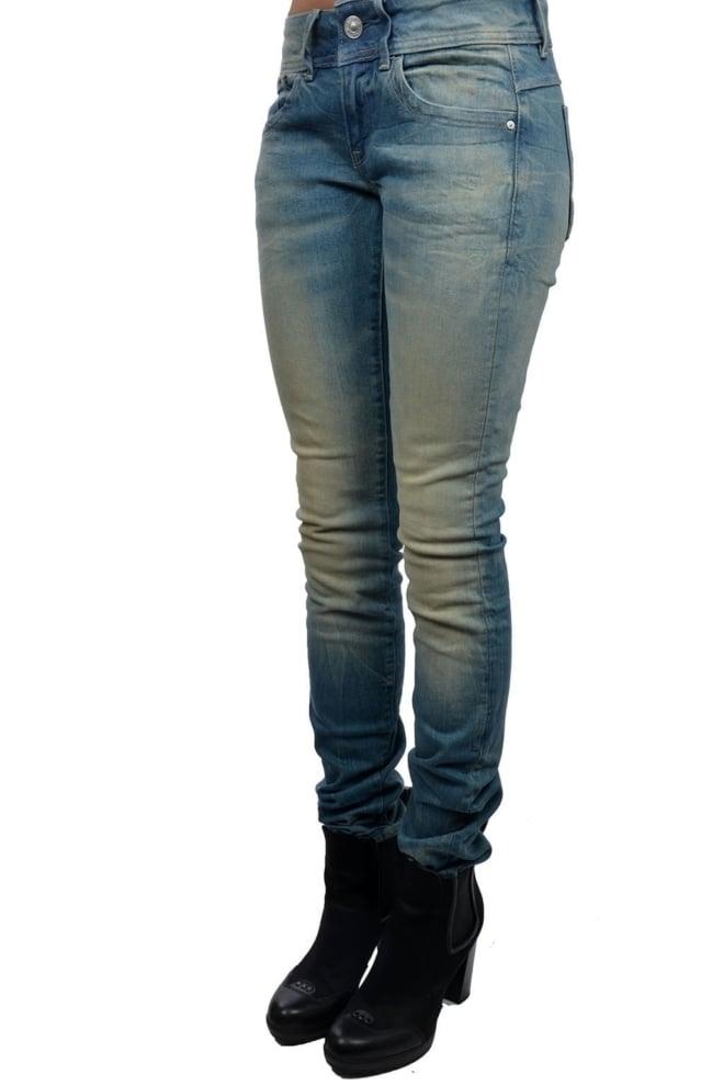 Lynn mid skinny 424/lt aged 014 - G-star Raw