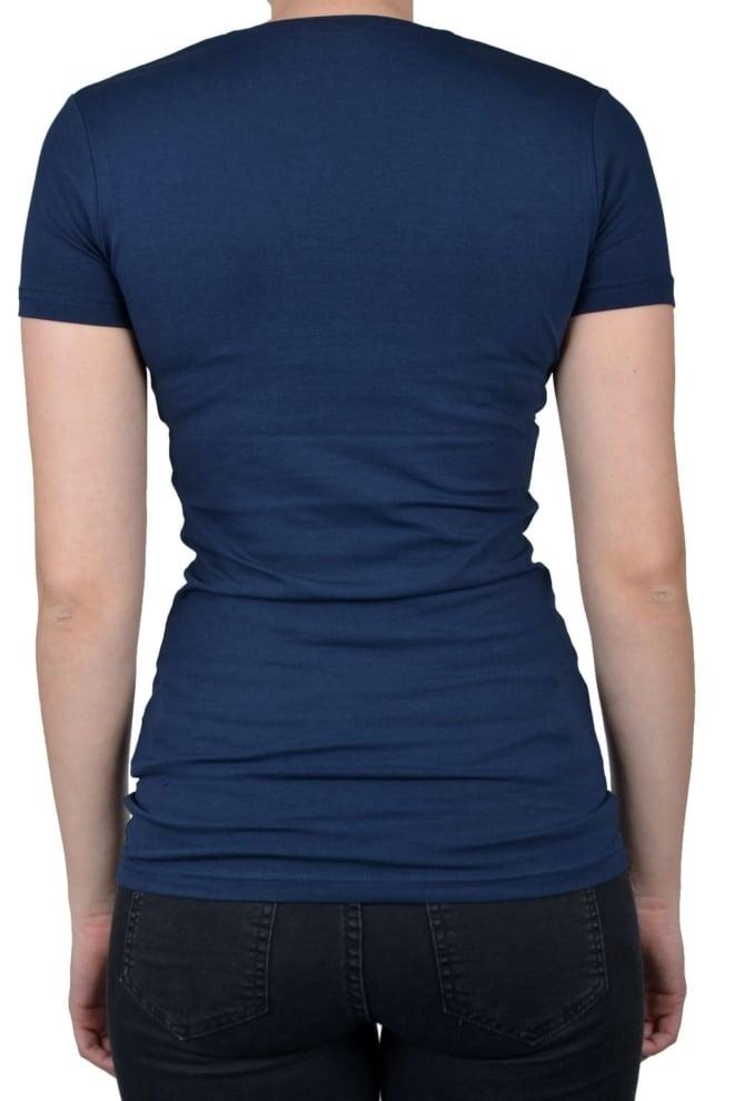 V-neck women ss navy 014 - Fashionating People