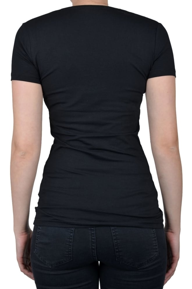 V-neck women ss black 014 - Fashionating People