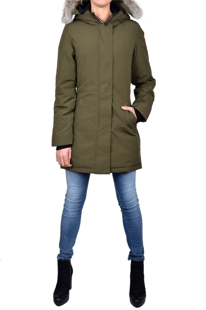 Ladies victoria parka military green 015 - Canada Goose