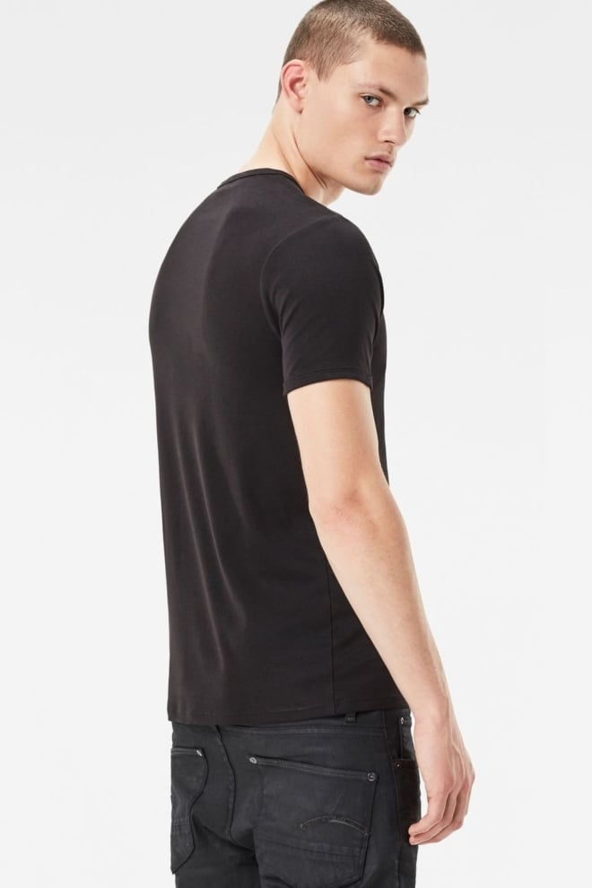 Basic v t-shirt 2-pack 990/black  016 - G-star Raw