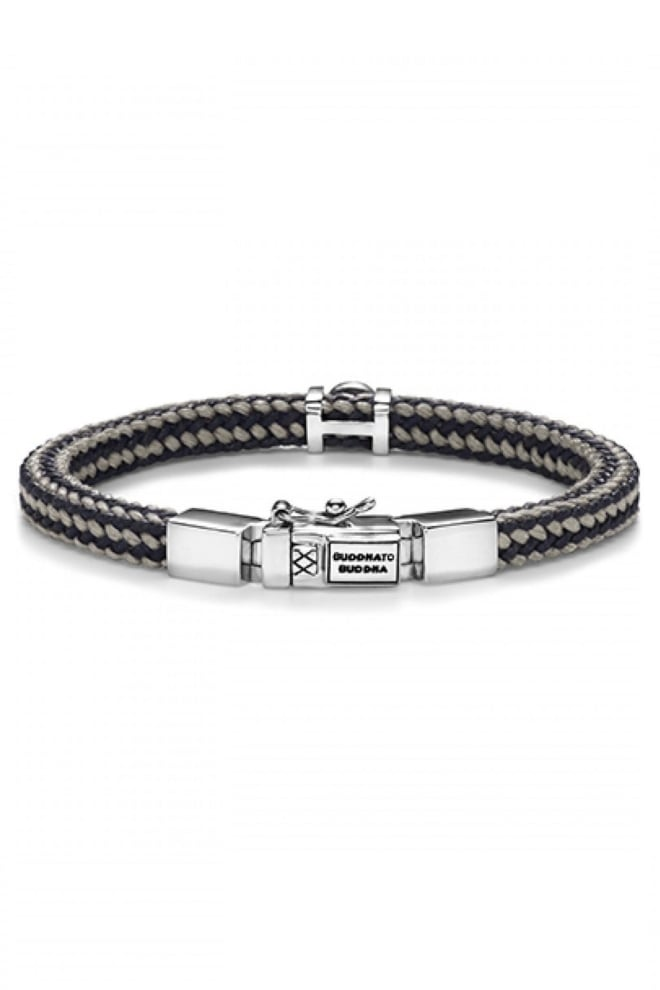 Denise cord bracelet mix grey - Buddha To Buddha