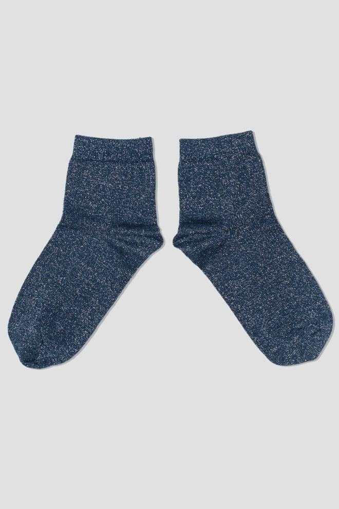 Pinned by k glitter socks dark blue - Pinned By K