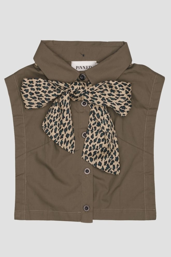 Pinned by k collar olive leopard - Pinned By K