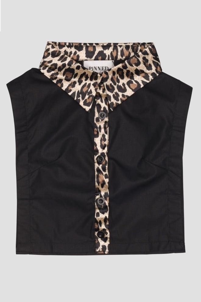 Pinned by k collar leopard black - Pinned By K