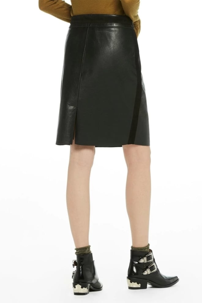 Maison scotch leather skirt black - Maison Scotch