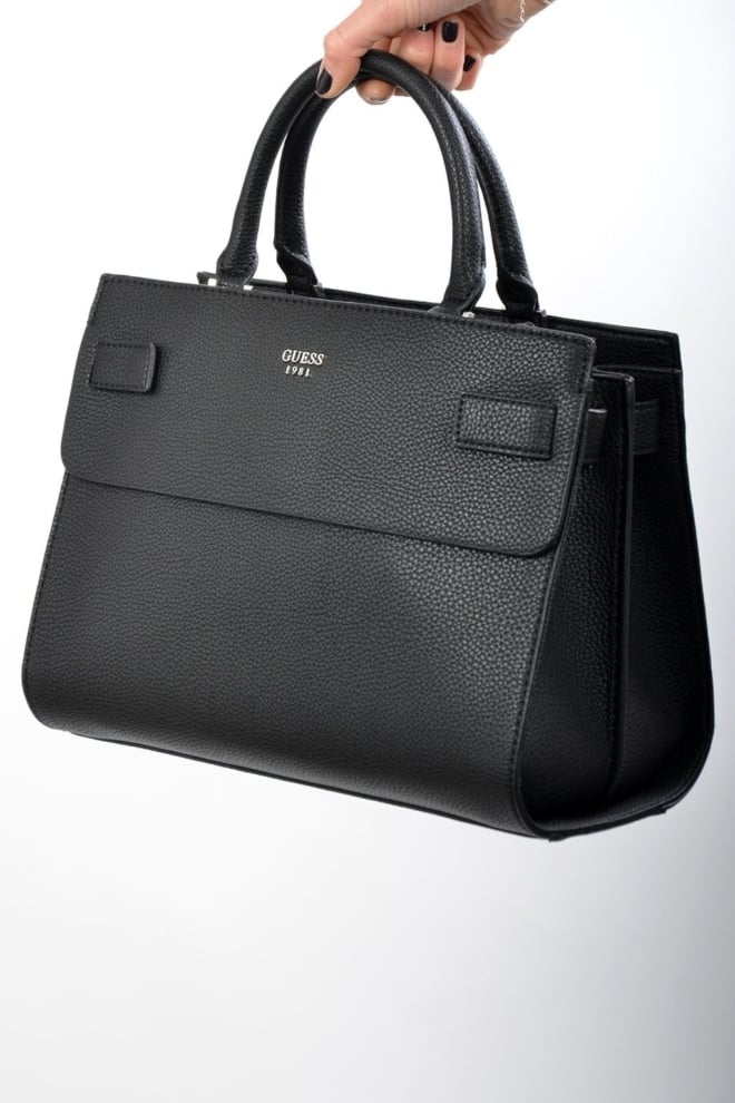Guess cate satchel black - Guess