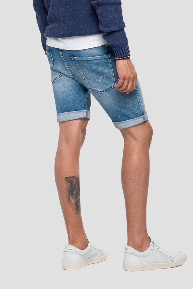 Replay anbass slim fit bermuda short denim - Replay