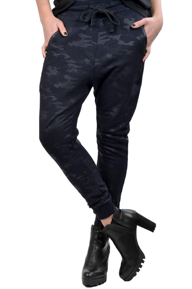 Elias rumelis alva loose fit pants blue camouflage - Elias Rumelis