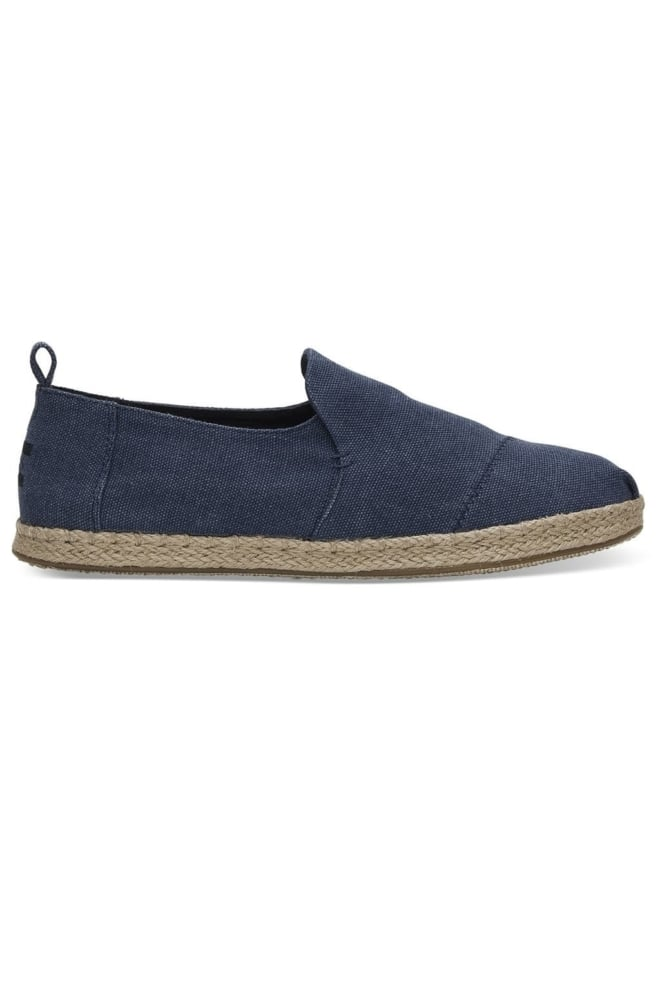 Toms navy washed canvas alpargatas - Toms