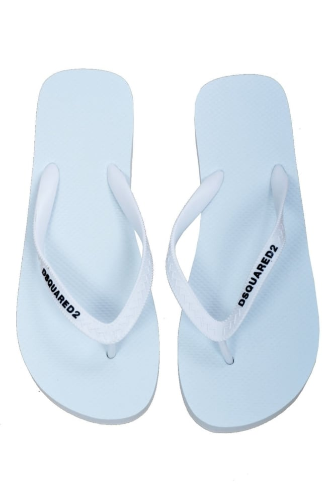 Dsquared2 slippers white - Dsquared