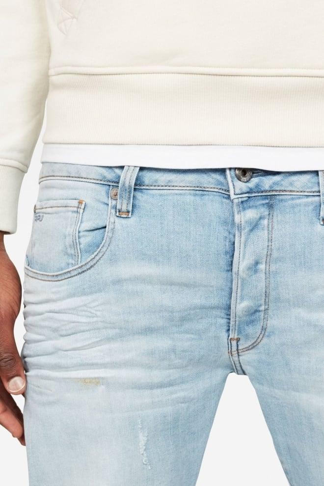 G-star 3301 slim jeans light aged small destroy - G-star Raw