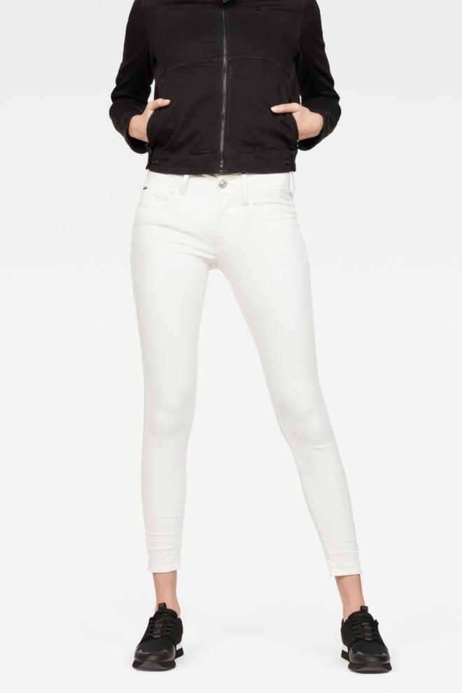G-star raw lynn d-mid waist super skinny ankle jeans rinsed - G-star Raw