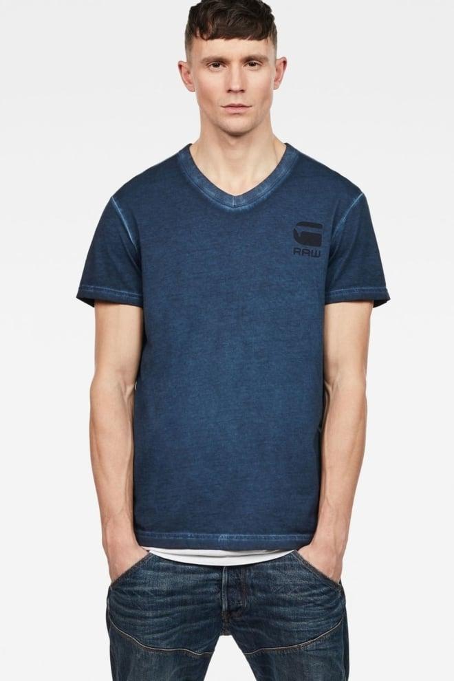 G-star raw doax v-neck t-shirt blue - G-star Raw