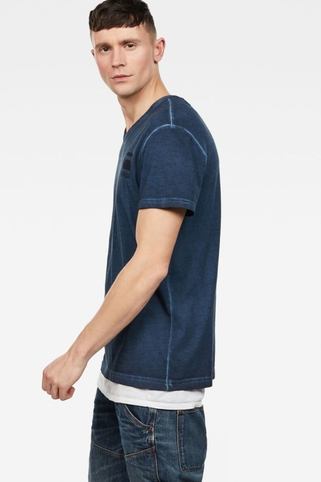 G-star raw doax v-neck t-shirt blue - G-star Raw
