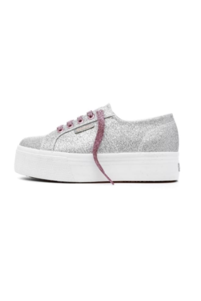 Superga microglitterw sneaker grey silver - Superga
