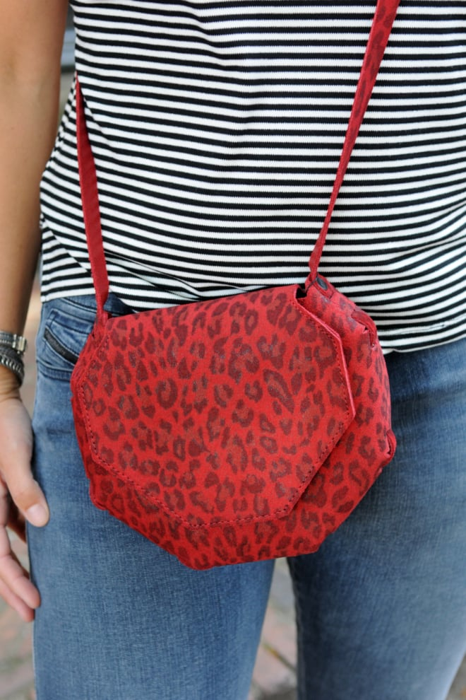 Elvy sia print red bag - Elvy Fashion