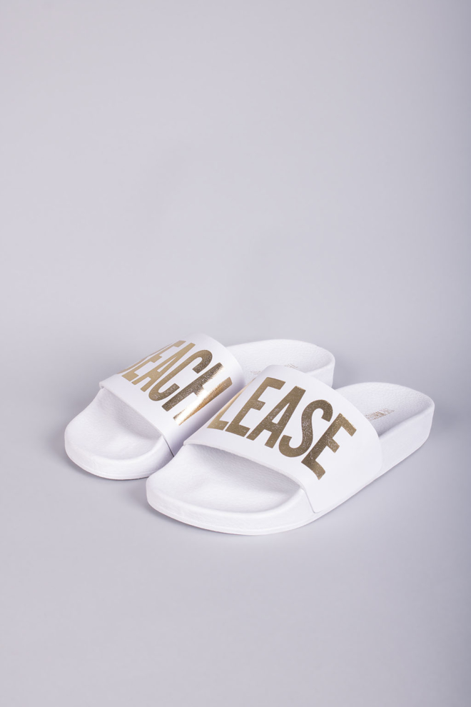 The white brand beach please slippers white - The White Brand