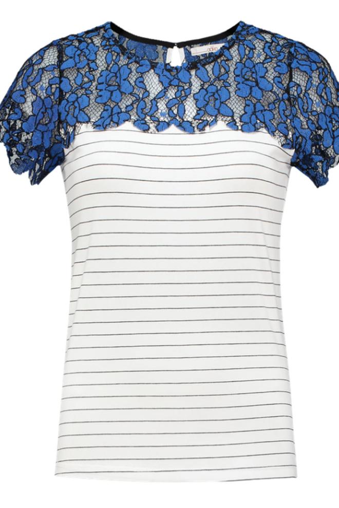 Aaiko fala t-shirt divine blue - Aaiko