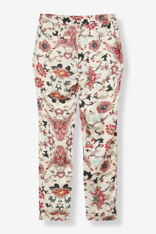 Alix flower pants coral - Alix The Label