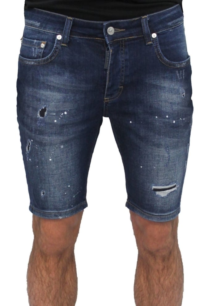 My brand vittore 005 zipper back short jeans blue - My Brand