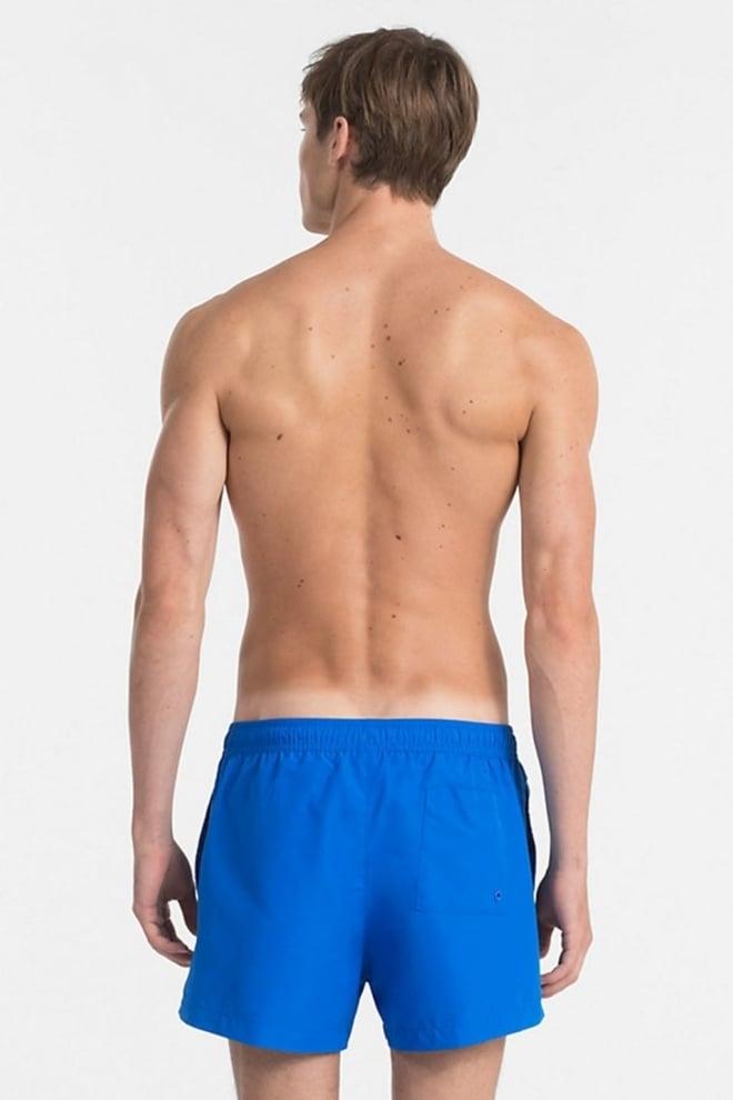 Calvin klein core logo tape zwemshort electric blue lemonade - Calvin Klein