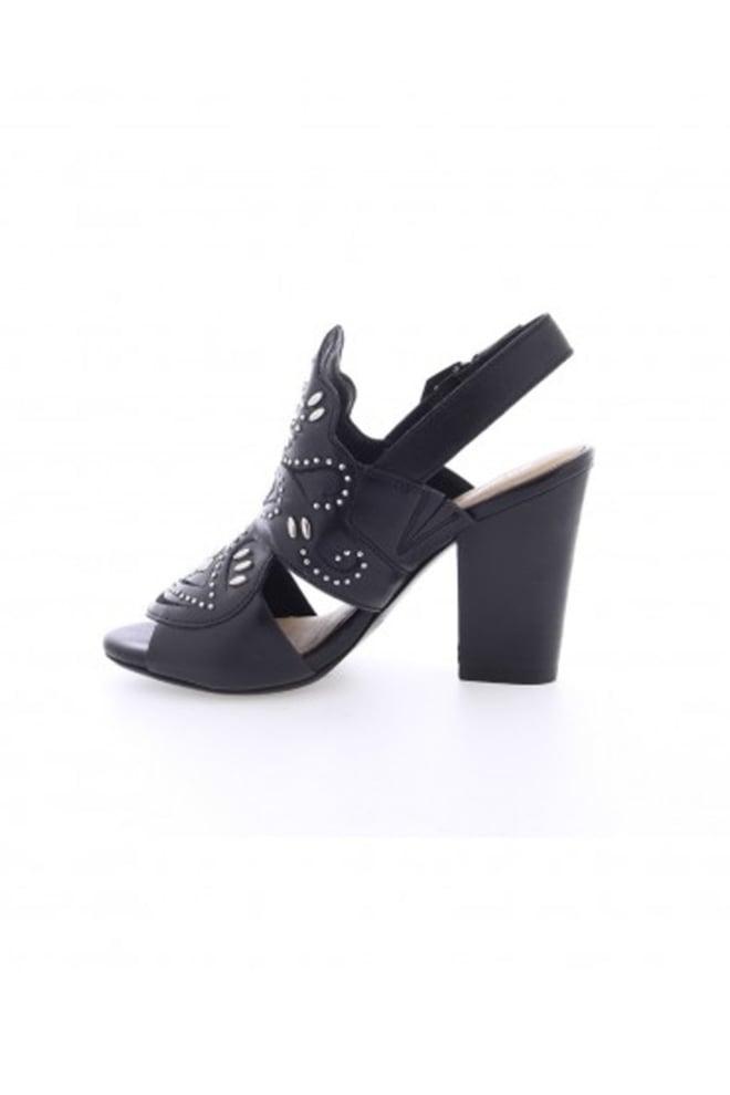 Bronx shoes black leather sandal - Bronx Shoes