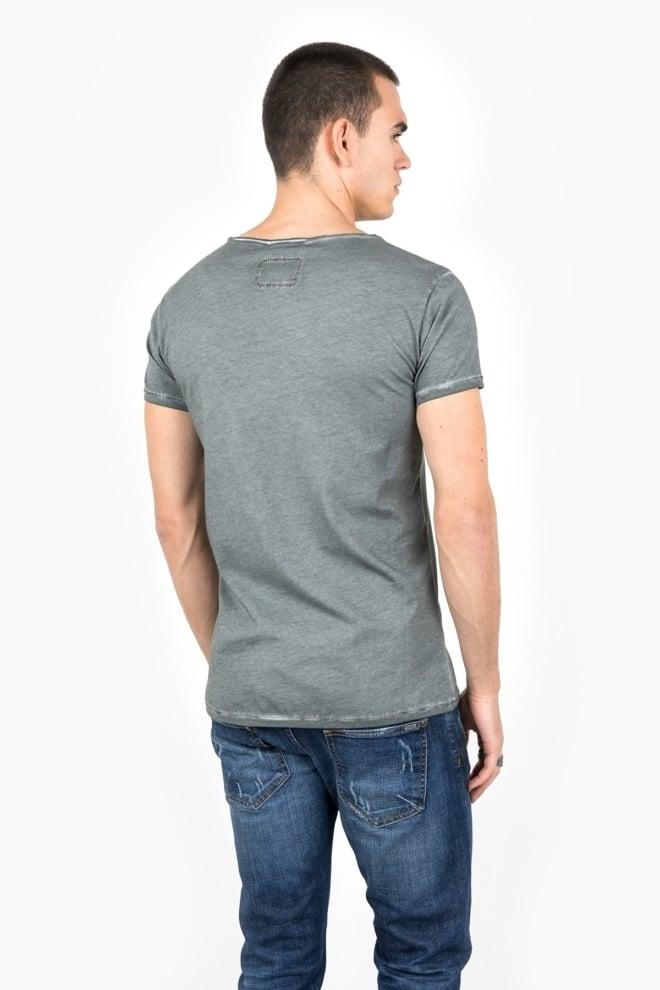 Tigha logo vintage t-shirt msn grey - Tigha
