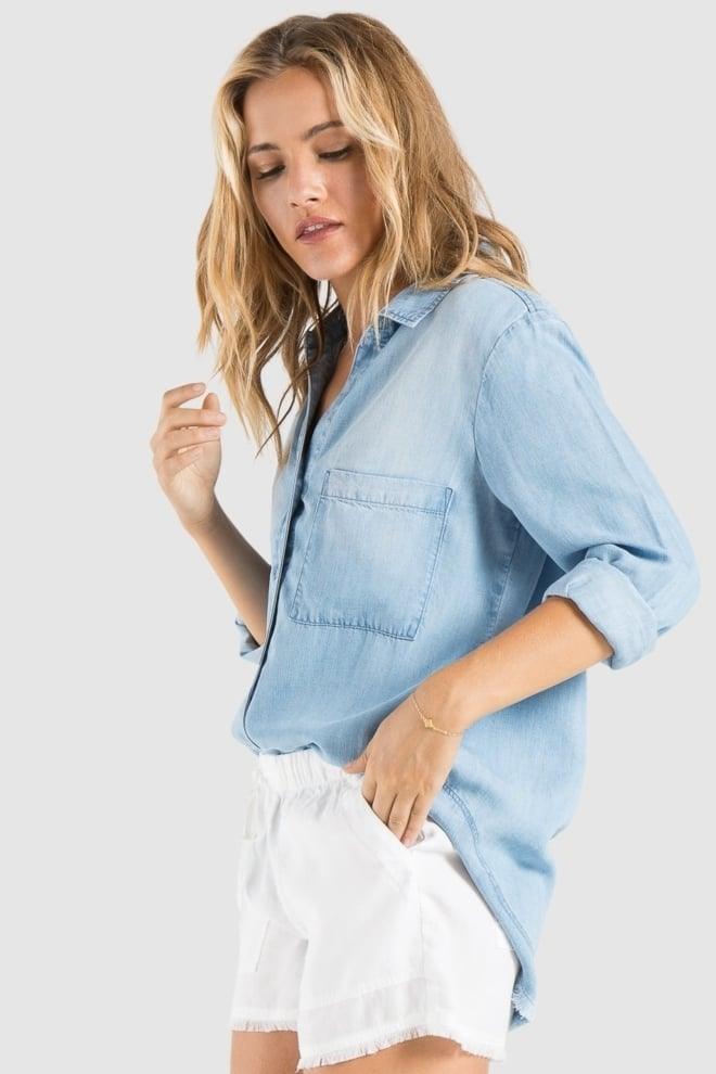 Bella dahl chambray button down mojave wash - Bella Dahl