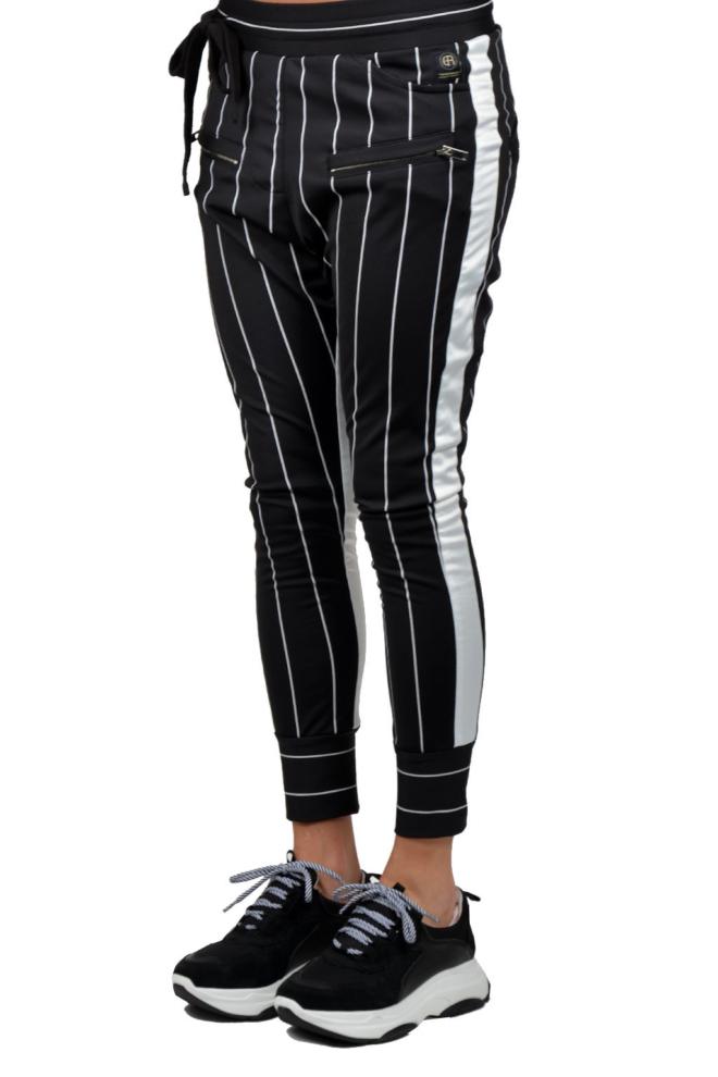 Elias rumelis selena loose fit pants black stripe - Elias Rumelis