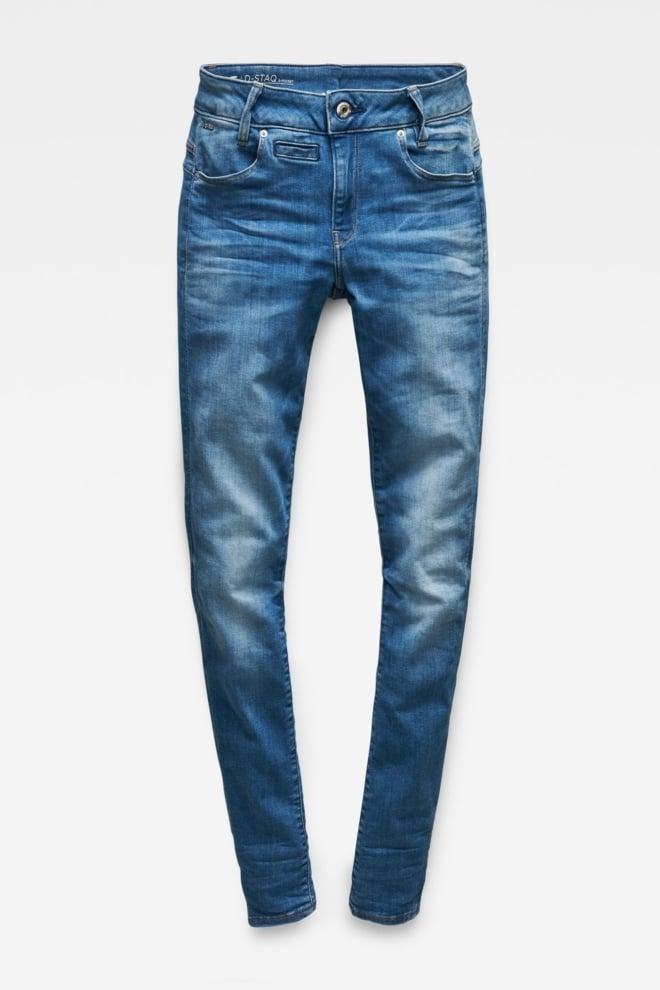G-star raw d-staq 5-pocket mid waist skinny jeans - G-star Raw