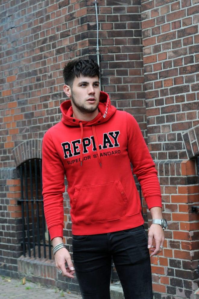Replay sweatshirt red - Replay
