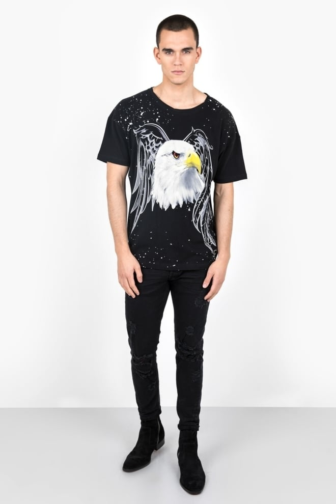 Tigha eagle msn t-shirt vintage black - Tigha