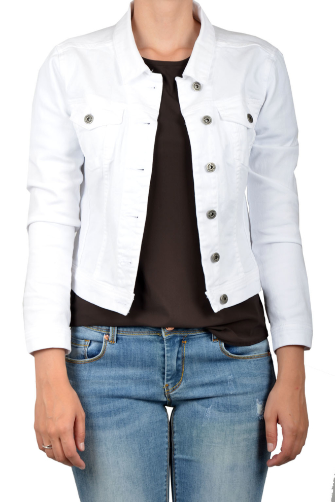Studio anneloes isabel jeans jacket white - Studio Anneloes