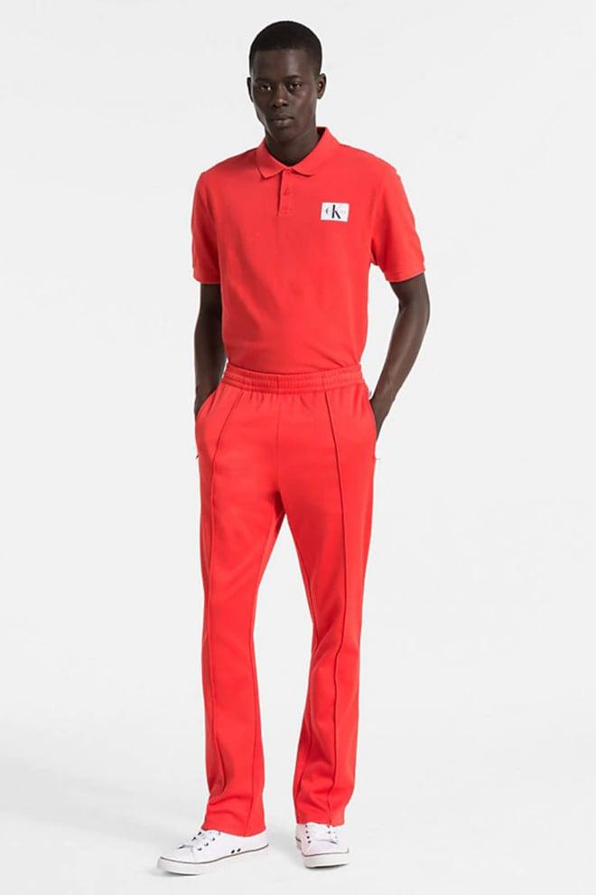 Calvin klein pique katoenen polo tomato - Calvin Klein