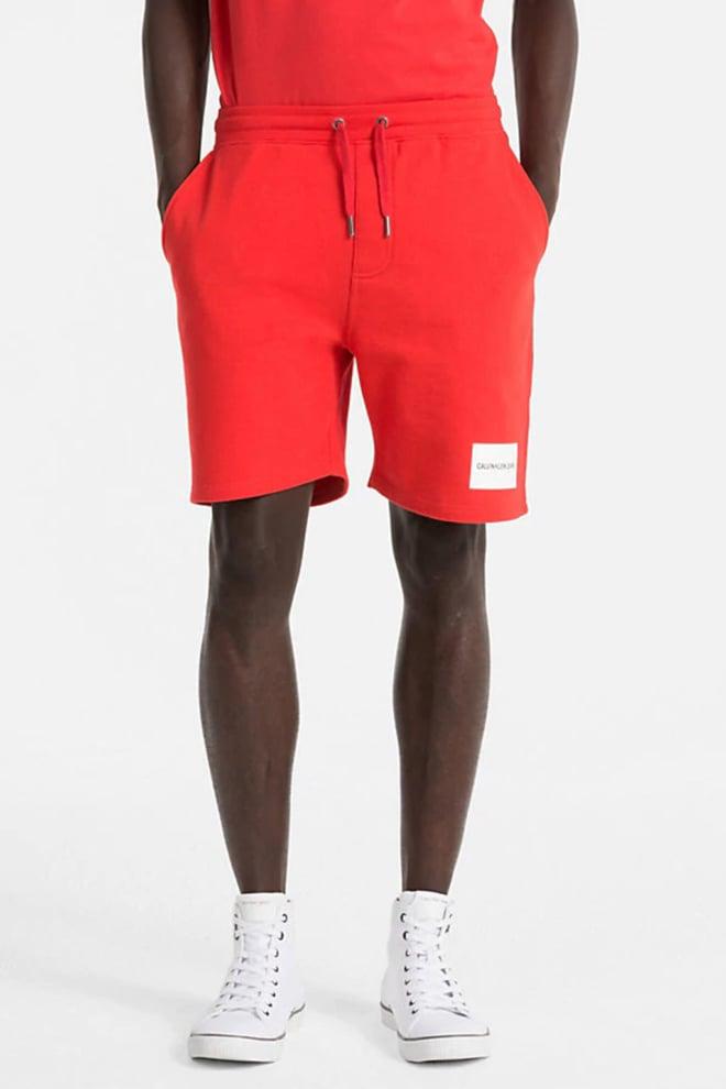Calvin klein slim korte joggingbroek met logo tomato - Calvin Klein