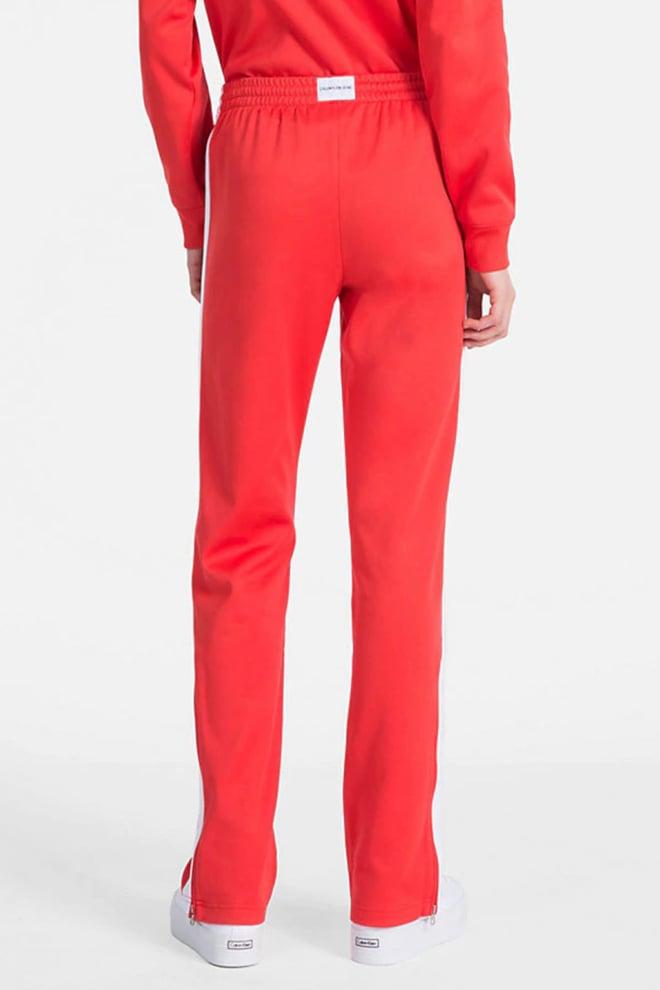 Calvin klein joggingbroek met zijstreep en rechte pijp tomato - Calvin Klein