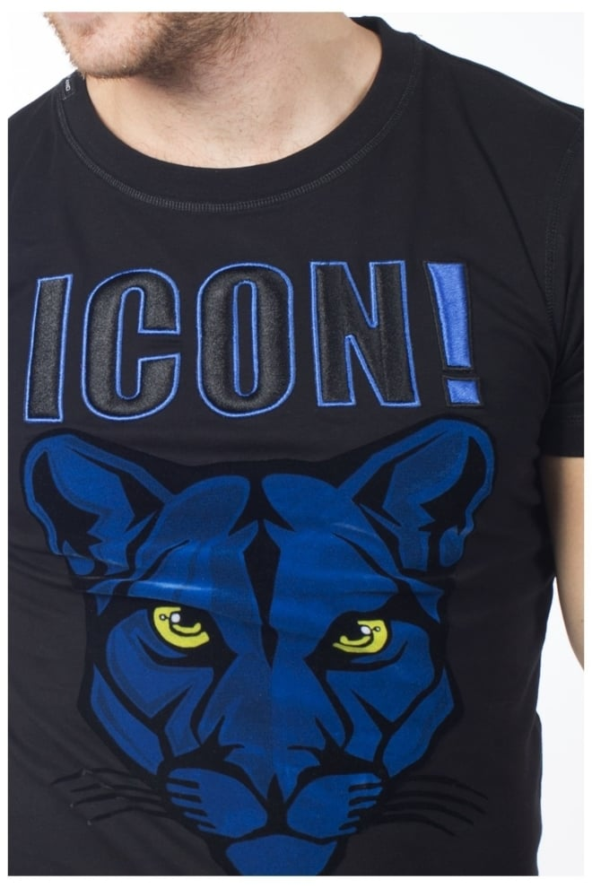 My brand icon panther t-shirt black - My Brand