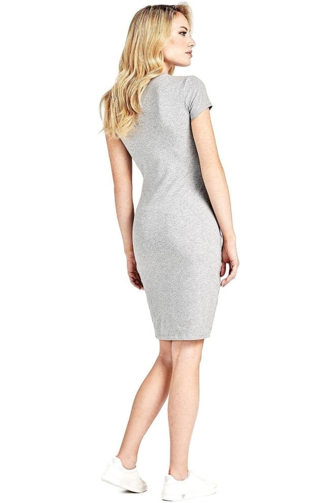 Guess triangle logo dress grey - Guess