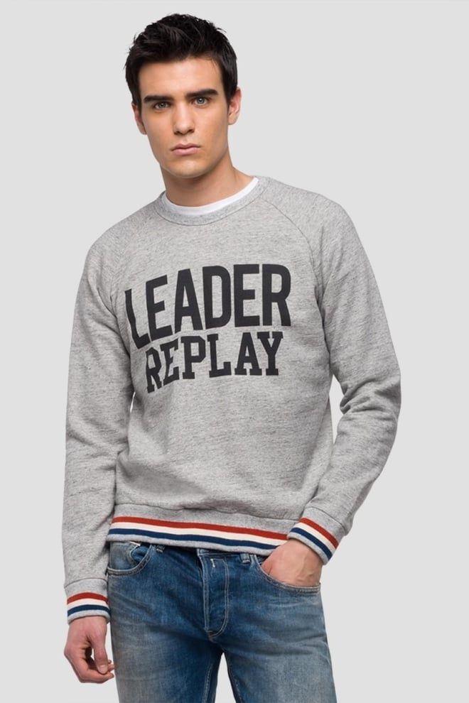 Replay mouliné sweatshirt logo print - Replay